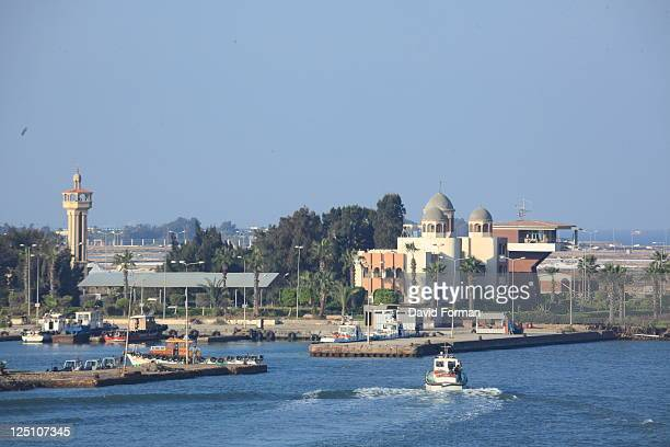 small port at city of suez - suez canal stock pictures, royalty-free photos & images