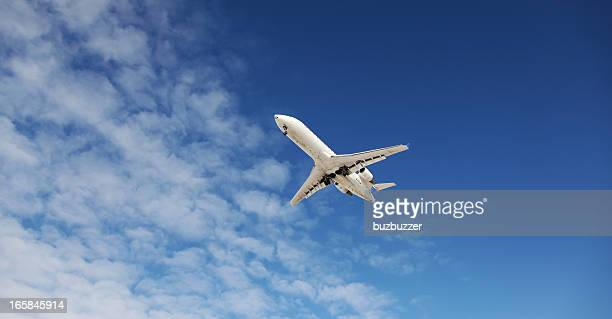 Small Private Jet Airplane in the sky