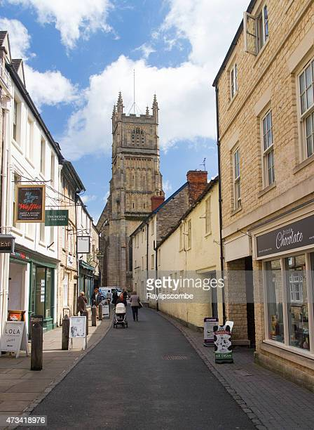 small quaint shopping street in the cotswolds - cirencester stock pictures, royalty-free photos & images