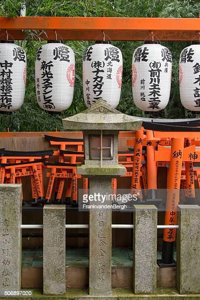 Small red tories at the Fushimi Inari Taisha shrine