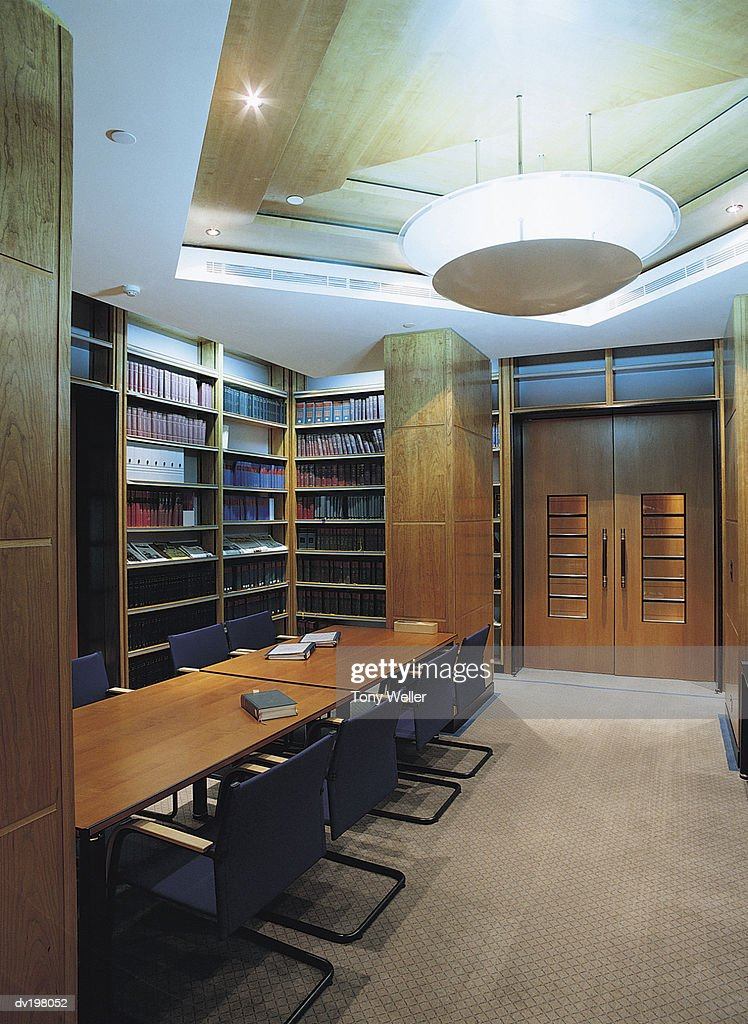 Small room in library : Stock Photo