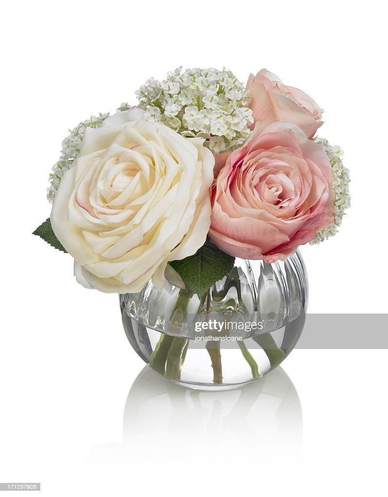 Small Rose Bouquet On White Background Stock Photo Getty Images