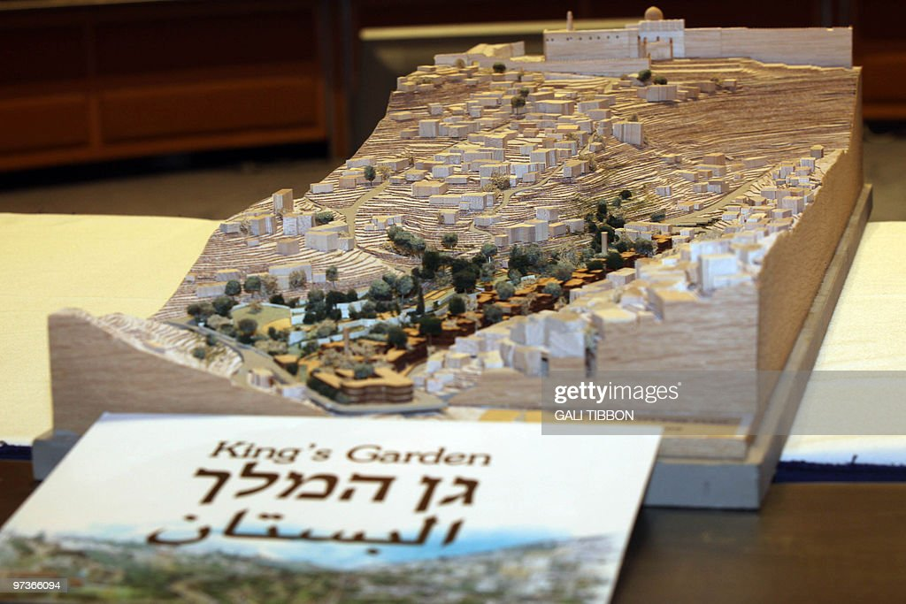 A small scale model showing Jerusalem's : News Photo