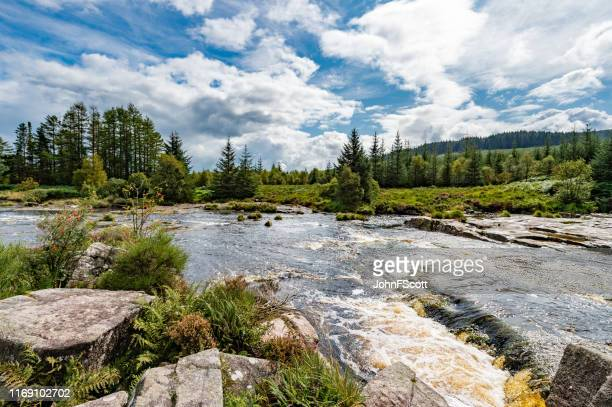 small scottish river in south west scotland - johnfscott stock pictures, royalty-free photos & images