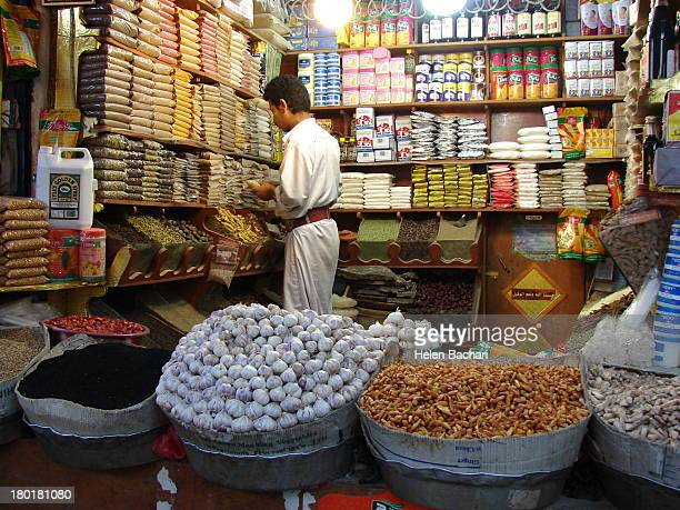 CONTENT] A small shop in the old city in Sana'a Yemen
