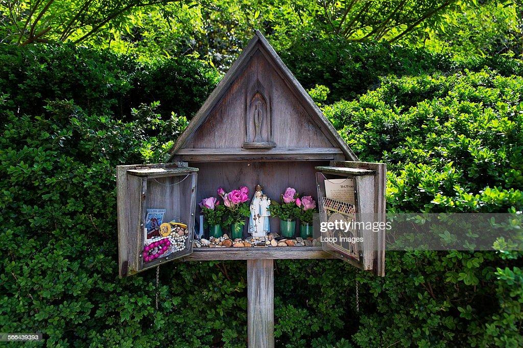A small shrine dedicated to the Virgin Mary at St Marys Catholic ...
