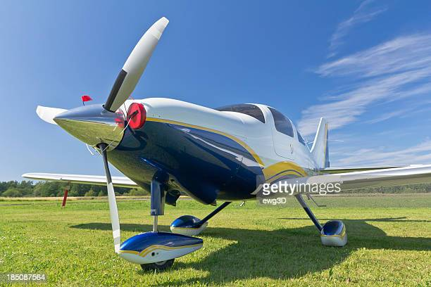 Small Single Engine Propeller Airplane