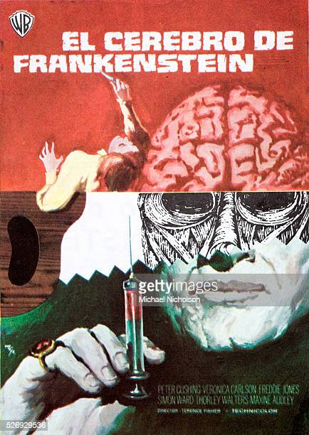 Small Spanish film poster for the 1969 British sciencefiction horror film Frankenstein Must Be Destroyed directed by Terence Fisher Film made by...