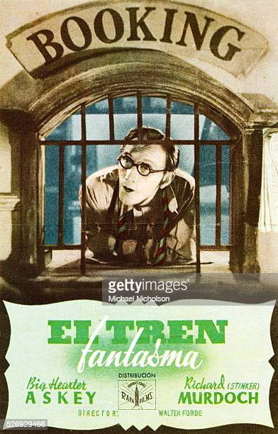 Small Spanish film poster for the British 1941 comedy horror film The Ghost Train starring Arthur Askey and Richard Murdoch Directed by Walter Forde...