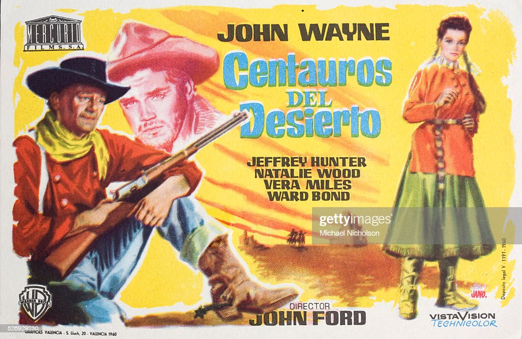 small spanish film poster for the warner brothers 1956