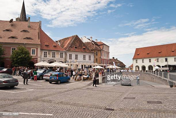 small square - sibiu stock photos and pictures