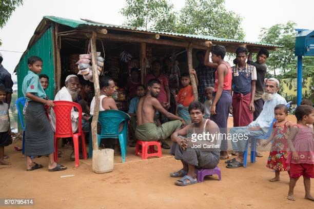 Small store at Rohingya refugee camp in Bangladesh