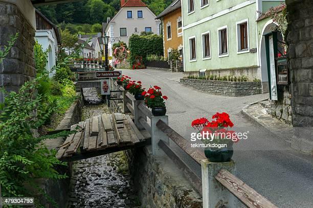 small street at willendorf austria - venus roman goddess stock pictures, royalty-free photos & images