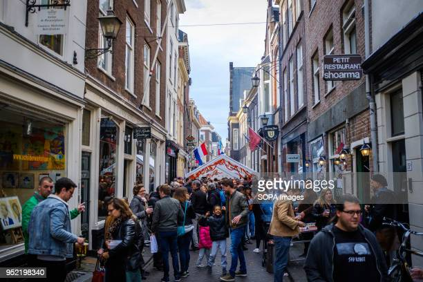 Small street festival on King's Day in city of The Hague in Netherlands Koningsdag or King's Day is a national holiday in the Kingdom of the...