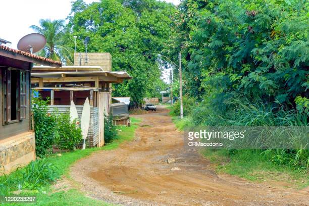 small streets in fernando de noronha daily life. nature, sun, simplicity and surf. everything for a full life. - crmacedonio stock pictures, royalty-free photos & images