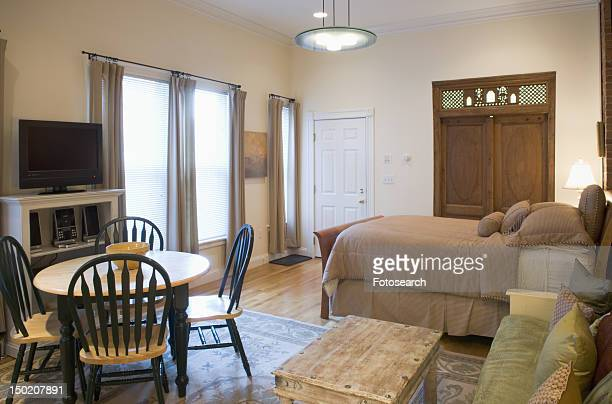 small studio apartment - small apartment stock pictures, royalty-free photos & images