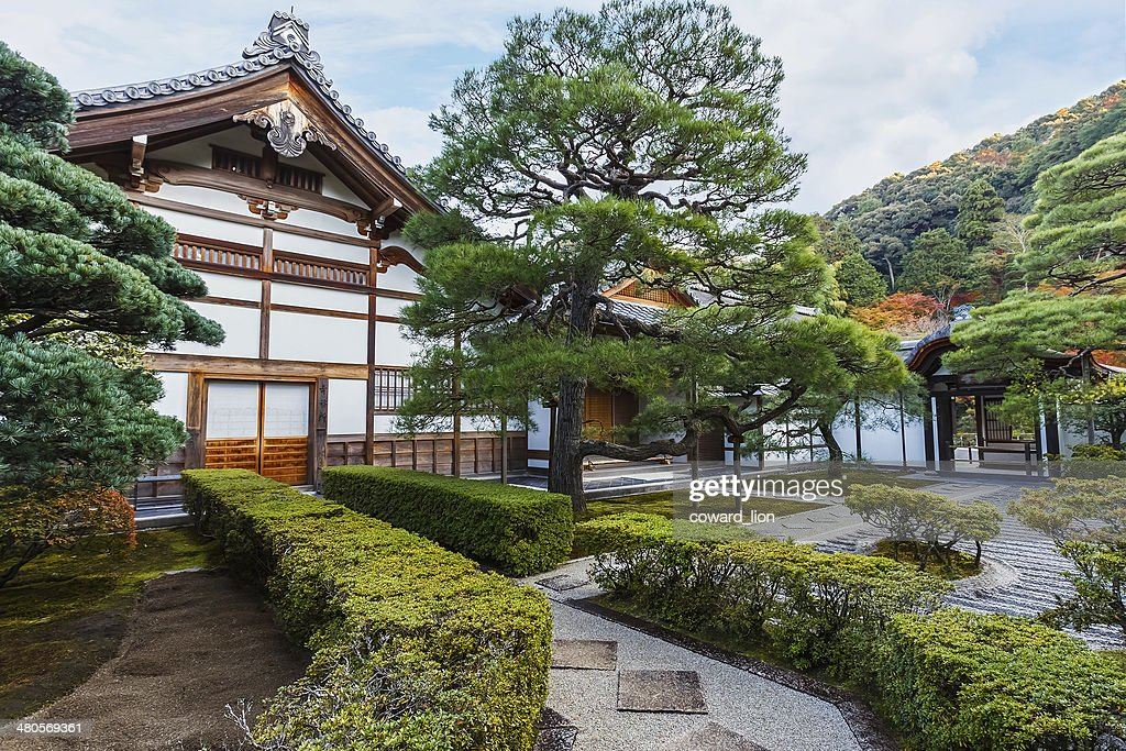 Small temple insdie Ginkaku-ji complex in Kyoto : Stock Photo