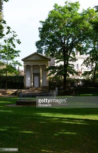 Small Temple. Parco Ranghiasci-Brancaleoni park. Gubbio. Umbria. Italy. Europe. Gubbio. Umbria. Italy. Europe.