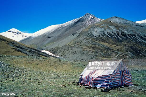 Small tent in the Tibetan Himalayas.