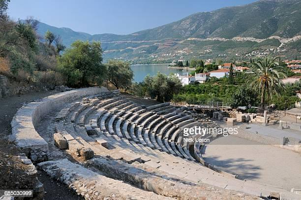 Small theatre of Ancient Epidaurus / Epidavros, Argolis, Peloponnese, Greece.