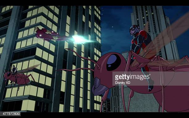 S AVENGERS ASSEMBLE Small Time Heroes With the team divided and the Avengers Tower wiped out Tony seeks help from AntMan Learning he's busy fighting...