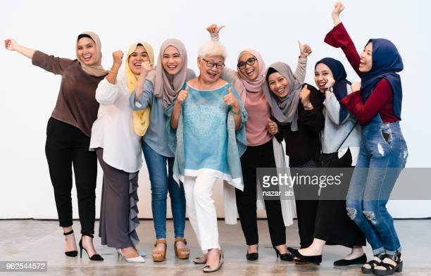 Small to medium group of woman with cheerful attitude.