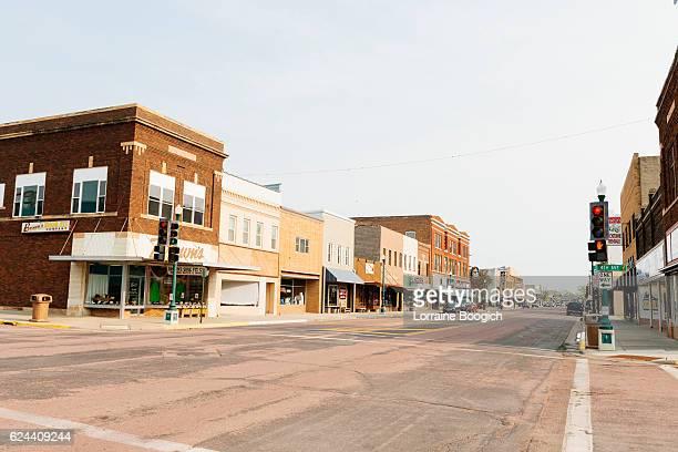 Small Town America Mitchell South Dakota Western USA Street Scene