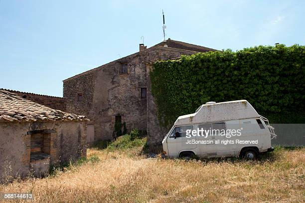 small town catalonia spain lanscape - jcbonassin stock pictures, royalty-free photos & images
