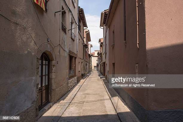 small town catalonia spain - jcbonassin stock pictures, royalty-free photos & images