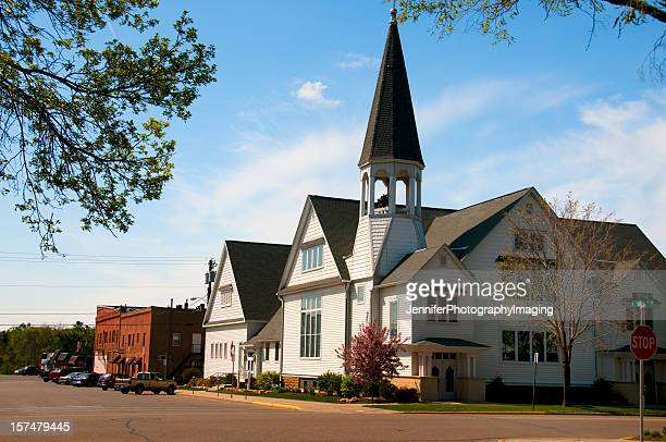 small town church - town_(wisconsin) stock pictures, royalty-free photos & images