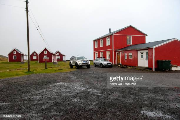 small town eskifjordur at eastern iceland - austurland stock pictures, royalty-free photos & images