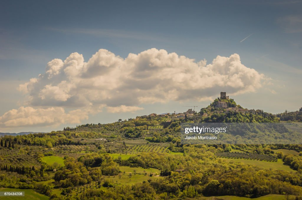 A small town in the Siena province : Stock Photo