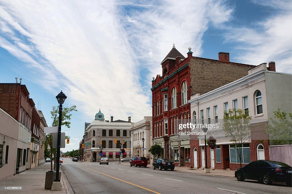 Small town main street : Foto de stock