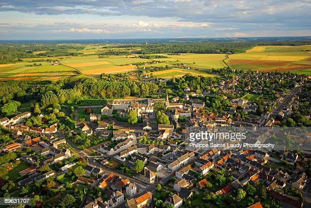 small town - loire valley stock pictures, royalty-free photos & images
