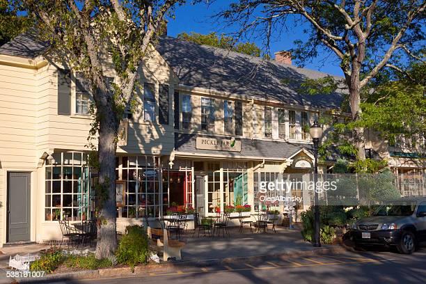 Small Town Street, Cape Cod, Massachusetts, USA.