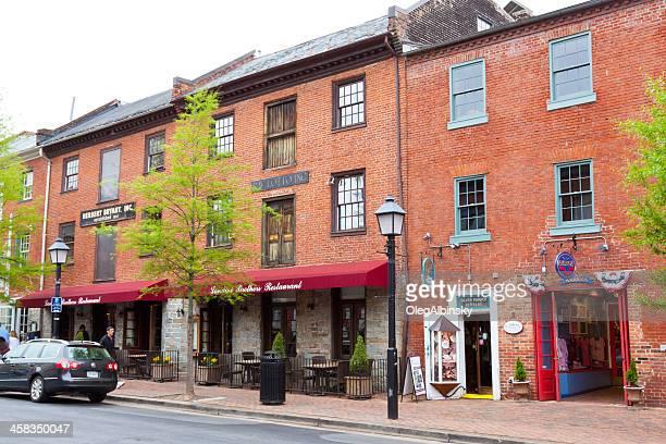 小さな街の通り、バージニア州アレキサンドリアます。 - バージニア州 アレクサンドリア ストックフォトと画像