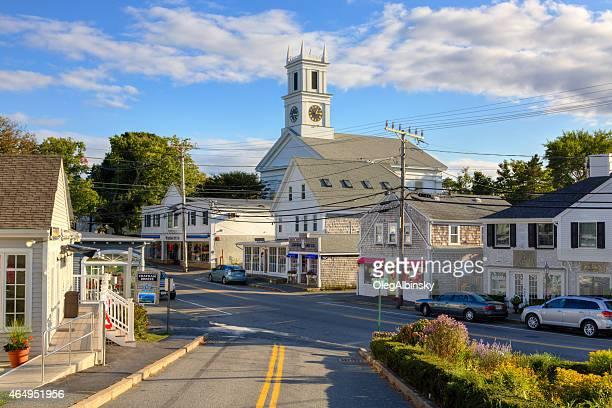 Kleine Stadt-Straße am Abend, Chatham, Cape Cod, Massachusetts.