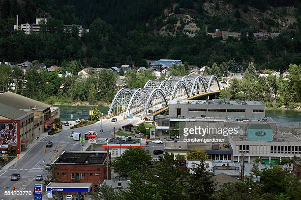 Small Town Trail British Columbia With Bridge And Hospital