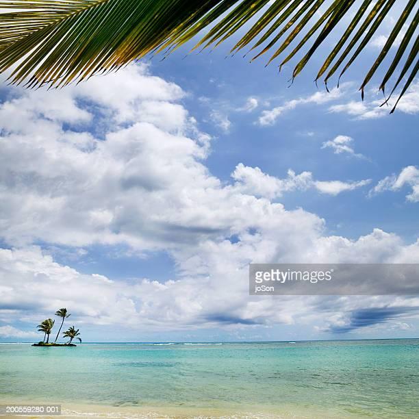 small tropical island in sea - ワイキキビーチ ストックフォトと画像