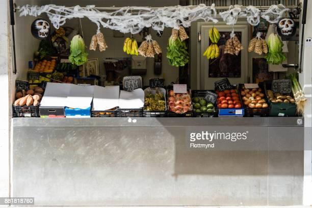 Small vegetable store in Cádiz, Spain