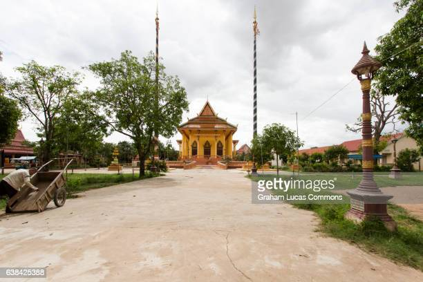 A small village Buddhist temple on Koh Dach Island, in the Mekong River Delta