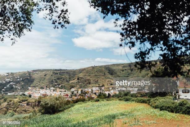 small village in rural canary island - las palmas de gran canaria stock pictures, royalty-free photos & images