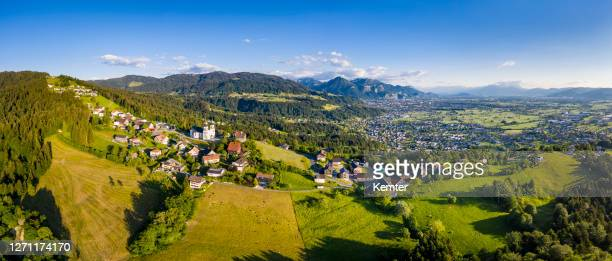 small village in the mountains - vorarlberg stock pictures, royalty-free photos & images