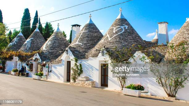 small village of alberobello, puglia, italy - unesco stock pictures, royalty-free photos & images