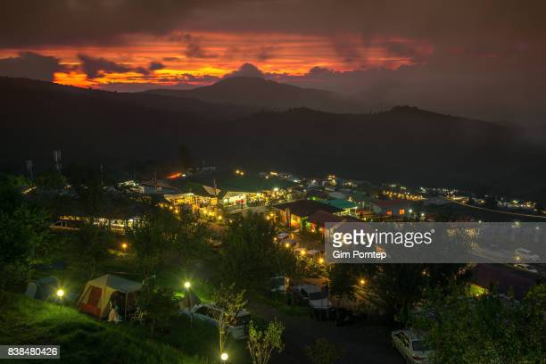 Small village on mountain , phu tub berk , thailand