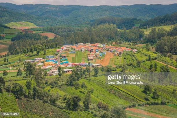 Small Village on top of Emerald lake in Ooty