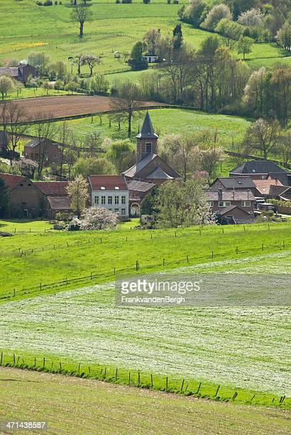 small village - valley stock pictures, royalty-free photos & images