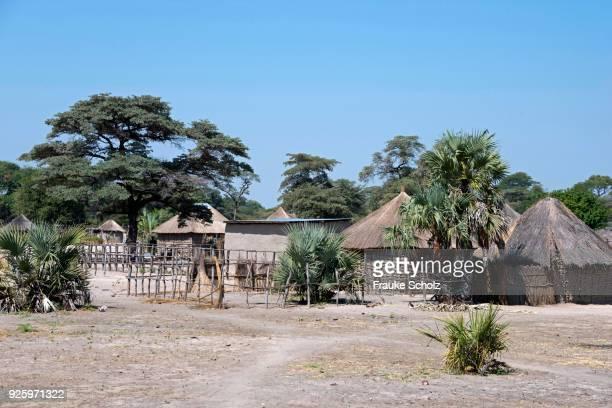 Small village with huts, Caprivi Strip, Namibia