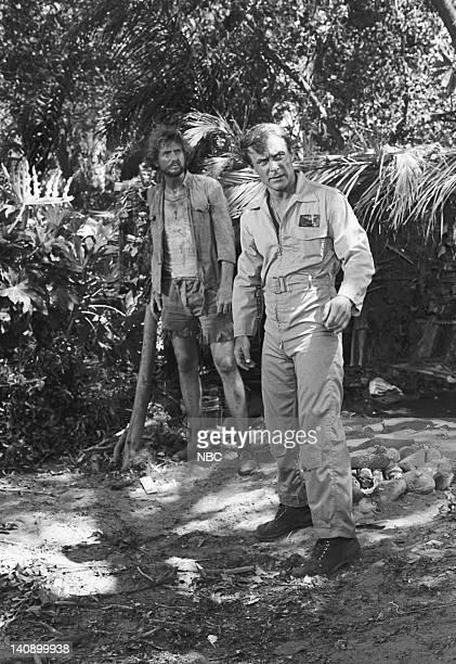 SHEEP Small War Episode 4 Aired 9/28/76 Pictured Rene Auberjonois as Lt Mathew Hooper Robert Conrad as Maj Greg 'Pappy' Boyington Photo by NBCU Photo...