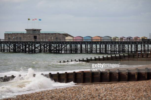 Small waves lap the shore by Hastings Pier on April 27 2018 in Hastings England A group of local residents are attempting to raise £1 million in...